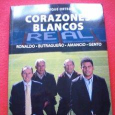 Coleccionismo deportivo - REAL MADRID GRANDES CAMPEONES CLUB FUTBOL CORAZONES BLANCOS RONALDO BUTRAGUEÑO AMANCIO GENTO - 56237227
