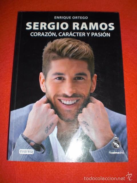 dce5a5a1bd169 LIBRO SERGIO RAMOS CORAZÓN CARACTER PASIÓN PRODUCTO OFICIAL FUTBOL REAL  MADRID LA ROJA (Coleccionismo Deportivo