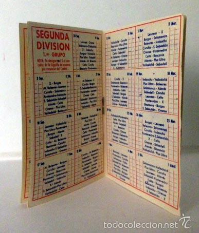 Coleccionismo deportivo: CALENDARIO FÚTBOL 1960 - 1961. Publicidad VERMOUTH CINZANO. Sin usar - Foto 2 - 56558779