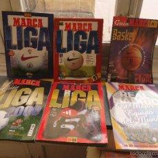 Coleccionismo deportivo: LOTE FUTBOL LIGA MARCA - ANUARIO -1996 1997 1998 1999 2000 BASKET ( BALONCESTO ) REAL MADRID - LEER. Lote 56934744