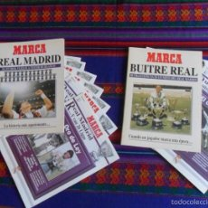 Coleccionismo deportivo: MARCA REAL MADRID EL FÚTBOL VUELVE A VESTIR DE BLANCO Y BUITRE REAL BUTRAGUEÑO. SIN ENCUADERNAR.. Lote 58295156