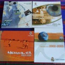 Coleccionismo deportivo: FUNDACIÓN REAL MADRID MEMORIA ANUAL 2002 03, 2003 04, 2004 05, 2005 06 REGALO REAL MADRID 06 07.. Lote 60104387