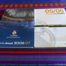 Coleccionismo deportivo: REAL MADRID INFORME ANUAL 03 04, 04 05 SIEMPRE REAL, 05 06 ANUARIO, MEMORIA ANUAL 06 07 MÁS MATERIAL. Lote 60105083