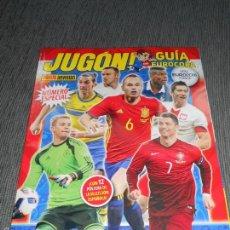 Coleccionismo deportivo: GUIA ESPECIAL FRANCIA EURO2016 REVISTA JUGON EUROCOPA 2016 FRANCE CON POSTERS ESPAÑA. Lote 60326571