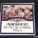 Coleccionismo deportivo: VICH C.F. FESTES DE SANT MIQUEL 1924. PROGRAMA ORIGINAL. 76 PÁGINAS. Lote 61448043