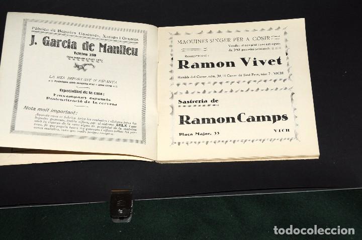 Coleccionismo deportivo: VICH C.F. Festes de Sant Miquel 1924. Programa ORIGINAL. 76 páginas - Foto 2 - 61448043