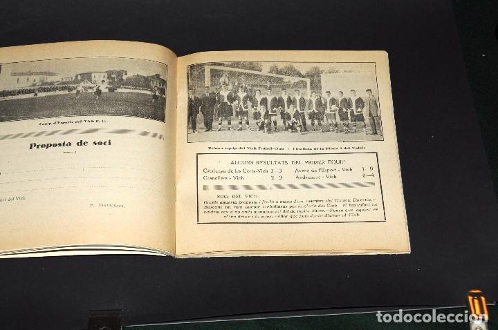 Coleccionismo deportivo: VICH C.F. Festes de Sant Miquel 1924. Programa ORIGINAL. 76 páginas - Foto 3 - 61448043