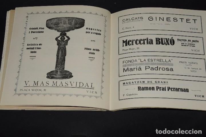 Coleccionismo deportivo: VICH C.F. Festes de Sant Miquel 1924. Programa ORIGINAL. 76 páginas - Foto 4 - 61448043