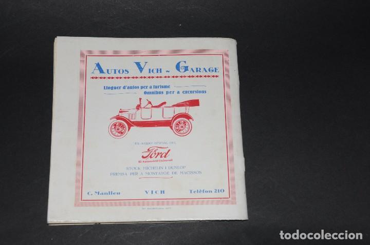 Coleccionismo deportivo: VICH C.F. Festes de Sant Miquel 1924. Programa ORIGINAL. 76 páginas - Foto 6 - 61448043