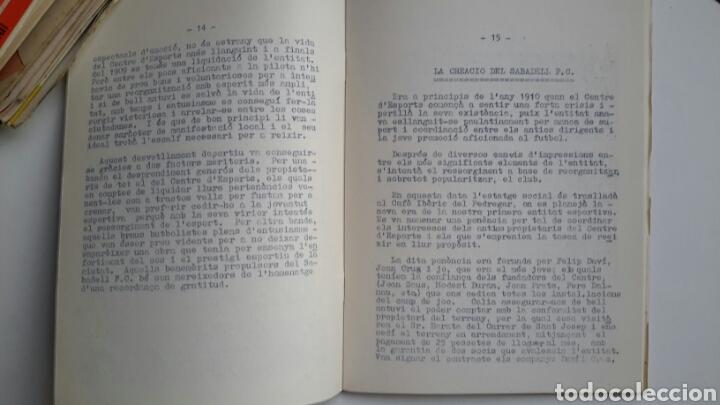 Coleccionismo deportivo: José Rosell. Els primers capítols per a la història del futbol a Sabadell. 1956. FBC - Foto 3 - 61681028