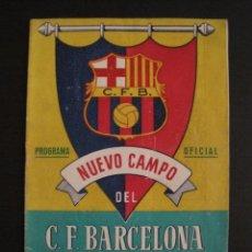 Coleccionismo deportivo: COLOCACION PRIMERA PIEDRA-NUEVO CAMPO F.C. BARCELONA- 28 MARZO 1954 -VER FOTOS ADICIONALES-(V-6555). Lote 61770888