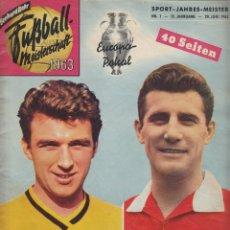 Coleccionismo deportivo: FÚTBOL. FUSSBALL MEISTERSCHAFT 1963. Lote 40341807