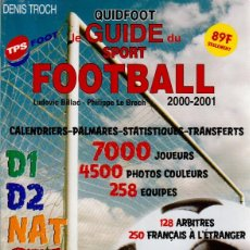 FÚTBOL. QUIDFOOT GUIDE FOOTBALL 2000-2001