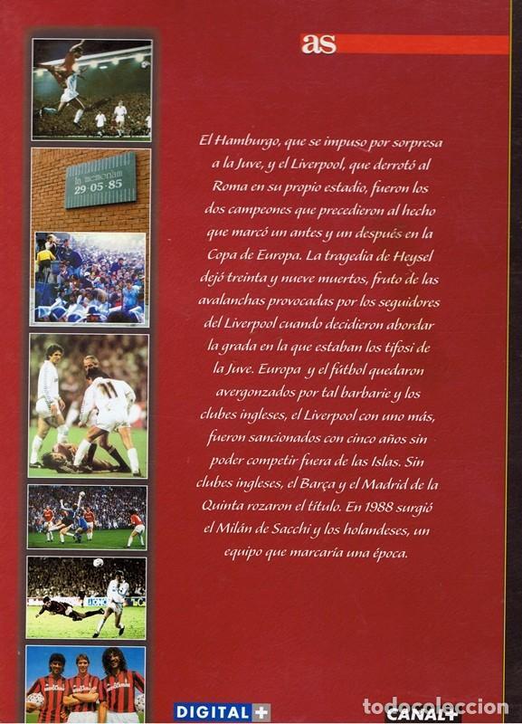 Coleccionismo deportivo: 50 AÑOS DE LA COPA DE EUROPA VOL5 1982 - 1989 - Foto 2 - 63710059