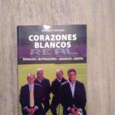 Coleccionismo deportivo: CORAZONES BLANCOS - RONALDO • BUTRAGUEÑO • AMANCIO • GENTO. Lote 64300291