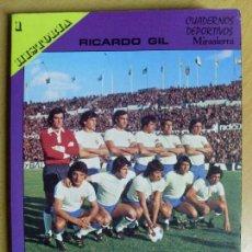 Coleccionismo deportivo: REAL ZARAGOZA, C.F. / RICARDO GIL / 1975. Lote 64701407
