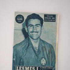 Coleccionismo deportivo: COLECCIÓN IDOLOS DEL DEPORTE. LESMES I (CABALLERO Y DEPORTISTA) 1959. Lote 66125062