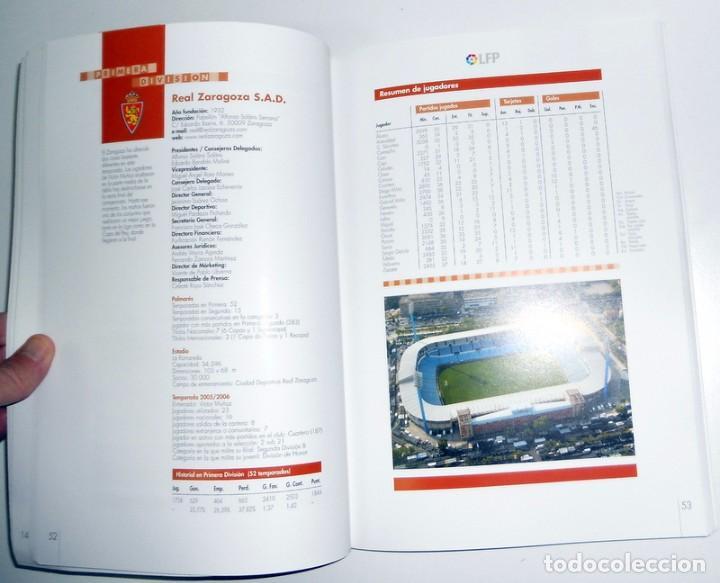 Coleccionismo deportivo: MEMORIA LIGA FUTBOL PROFESIONAL LFP Temporada 2005/2006 Revista SOLO para CLUBES Editada por la Liga - Foto 3 - 66172118