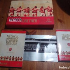 Coleccionismo deportivo: CAJA OFICIAL DE FUTBOL LIBRO+DVD. ANUARIO. THE ARSENAL OFFICIAL MEMBERSHIP YEARBOOK 2010/2011. Lote 67709901