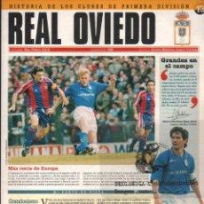 Coleccionismo deportivo: L29 HISTORIA DE LOS CLUBES ~ EKL CLUB DE FUTBOL : ~ REAL OVIEDO~ PRIMERA DIVISIÓN 1994 / 1995. Lote 71512051