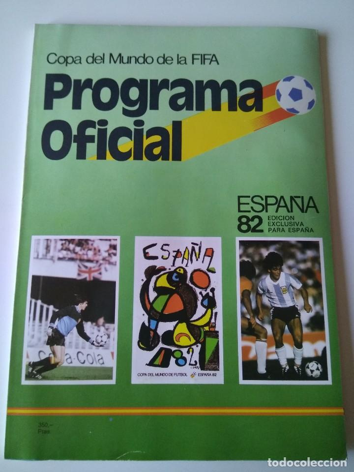 ANTIGUO PROGRAMA OFICIAL MUNDIAL ESPAÑA 82 1982 COPA DEL MUNDO FIFA (Coleccionismo Deportivo - Libros de Fútbol)
