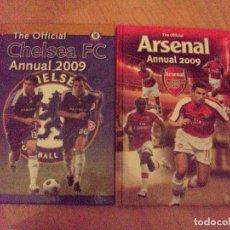 Coleccionismo deportivo: 2 LIBROS DEL ARSENAL Y CHELSEA DEL 2009 EN INGLES. Lote 74680271
