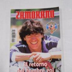 Coleccionismo deportivo: ZAMORANO.EL RETORNO DEL HOMBRE GOL. COLECCION ESTRELLAS DE PRIMERA. ANGEL GARCIA TDK20. Lote 35651496