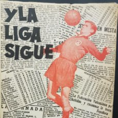 Coleccionismo deportivo: Y LA LIGA SIGUE(ALMANAQUE)DEDICADO POR EL AUTOR A PEPE SAMITIER,POSEEDOR DEL LIBRO.SEGUNDA EDICIÓN.. Lote 80116377