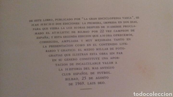 Coleccionismo deportivo: HISTORIA DEL ATHLETIC CLUB DE BILBAO 1969 Gran Enciclopedia Vasca Retama Editor Grandes del Futbol - Foto 3 - 85564135