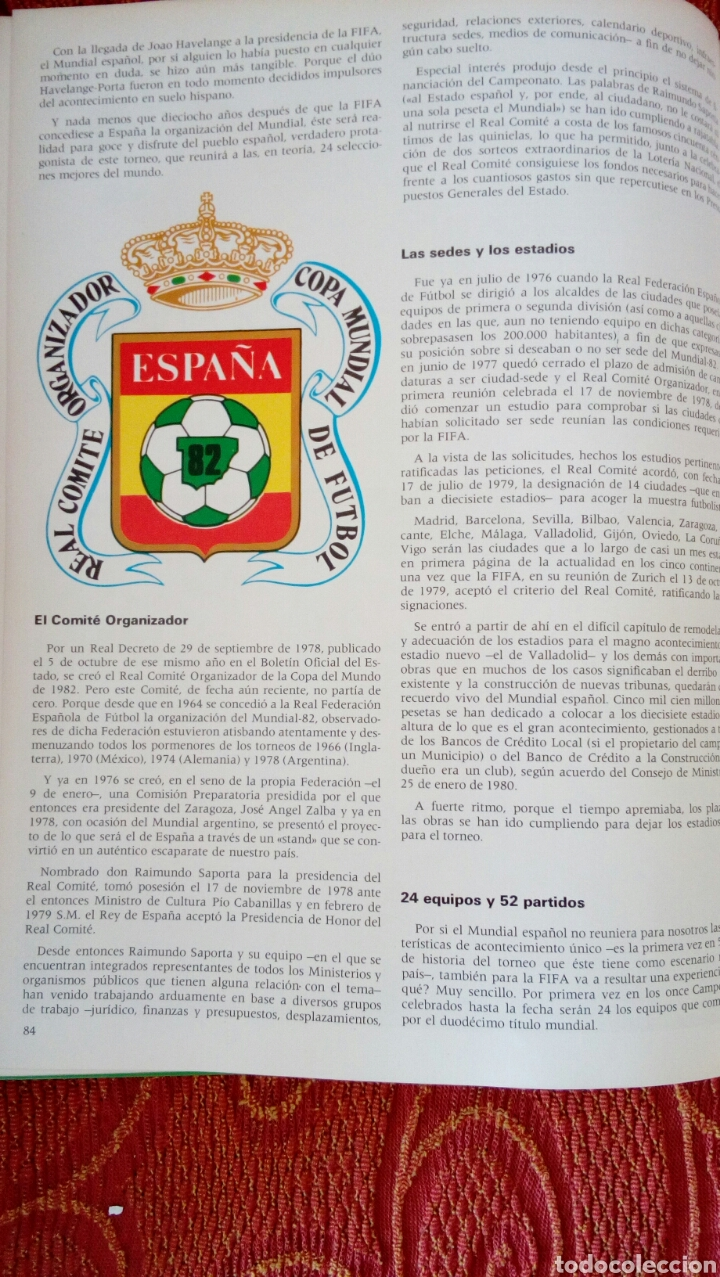 Coleccionismo deportivo: Campeonatos mundiales de fútbol de 1982 - Foto 4 - 85975600