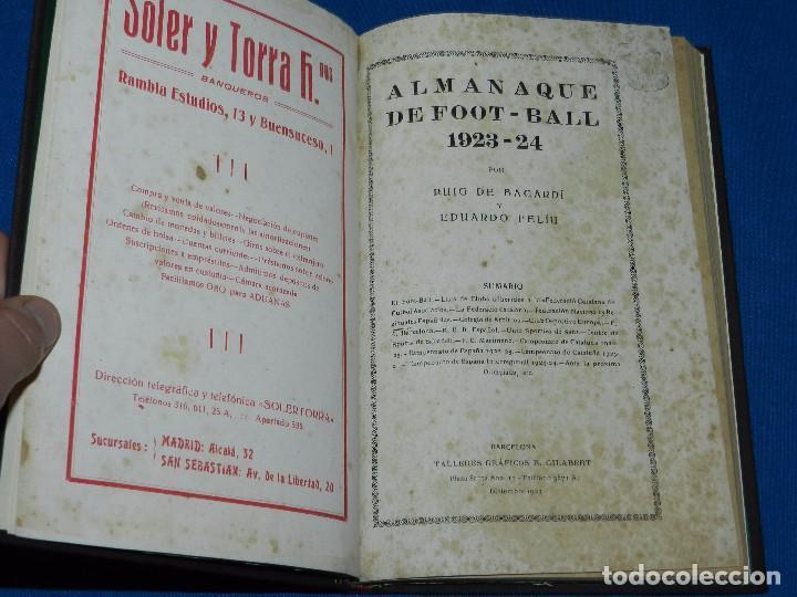 Coleccionismo deportivo: (M) ALMANAQUE DE FOOT-BALL 1923 - 1924 ( FUTBOL ) POR PUIG DE BACARDI Y EDUARDO FELIU , ILUSTRADO - Foto 2 - 86218808