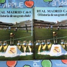 Coleccionismo deportivo: LIBROS LIBRO REAL MADRID HISTORIA DE UN GRAN CLUB TOMO 1 Y 2 COMPLETO 1984 MIGUEL GONZALEZ. Lote 87510988