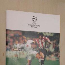 Coleccionismo deportivo: PROGRAMA DEL PARTIDO ATHLETIC BILBAO - JUVENTUS FC. CHAMPIONS LEAGUE. . Lote 89567330