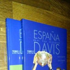 Coleccionismo deportivo: ESPAÑA EN LA COPA DAVIS / TOMOS I Y II / RAMON SACHEZ Y EMILIO MARTINEZ. Lote 89863316