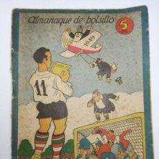 Coleccionismo deportivo: ALMANAQUE DE BOLSILLO EL ONCE AÑO 1949. Lote 90484679