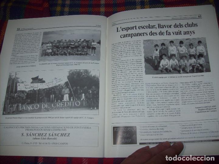 Coleccionismo deportivo: HISTÒRIA DEL FUTBOL A CAMPOS , 1924 - 1994 .ED. DEL MIGJORN. CLUB ESPORTIU CAMPOS. 1994. MALLORCA - Foto 14 - 92332820
