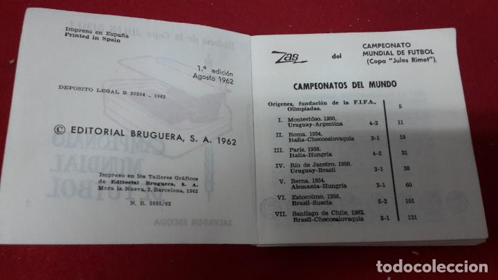 Coleccionismo deportivo: Libro de fútbol resumen de 1962 sobre la copa Jules Rimet - Foto 2 - 93262730
