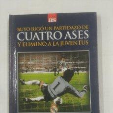 Coleccionismo deportivo: BUYO JUGO UN PARTIDAZO DE CUATRO ASES Y ELIMINO A LA JUVENTUS. 5-11-1986. REAL MADRID. TDK311. Lote 94169170