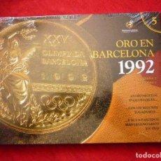 Coleccionismo deportivo: LIBRO - ORO EN BARCELONA 1992 - REAL FEDERACION ESPAÑOLA DE FUTBOL- PRECINTADO - INCLUYE DVD !! . Lote 94214100