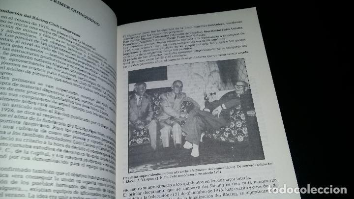 Coleccionismo deportivo: EL RACING CLUB LANGREANO ( 1915 / 1961 ) / HISTORIA DE UN CLUB POPULAR / FRANCISCO PALACIOS - Foto 2 - 94187395