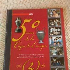 Coleccionismo deportivo: **LIBRO DE TAPAS DURAS,---50 AÑOS DE LA COPA DE EUROPA---DE LA REVISTA AS Y CANAL+ AÑO 2005**. Lote 153753836