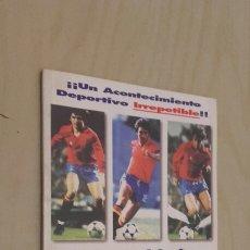 Coleccionismo deportivo: DOCUMENTO EXCLUSIVO DEL INOLVIDABLE PARTIDO ESPAÑA-MALTA (12-1).. Lote 97000600
