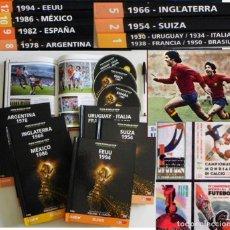 Coleccionismo deportivo: LOTE LIBROS DVDS FIFA WORLD CUP MUNDIALES DE FÚTBOL ESPAÑA 82 MÉXICO 86 BRASIL DVD DEPORTE LIBRO DVD. Lote 117684112