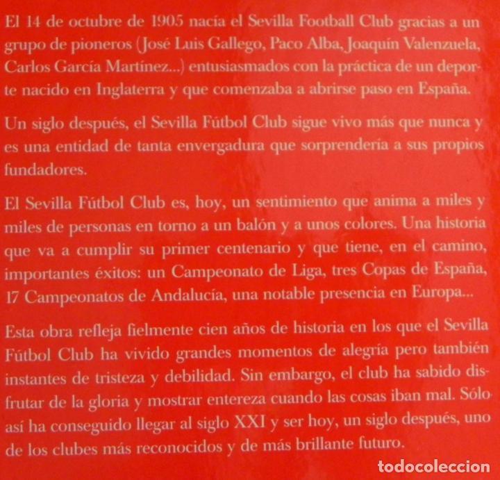 Coleccionismo deportivo: SEVILLA FC CIEN AÑOS DE HISTORIA TOMO 1 2 LIBROS ORO FÚTBOL CLUB - DEPORTE FOTOS LIBRO TOMOS SFC 100 - Foto 2 - 97797483