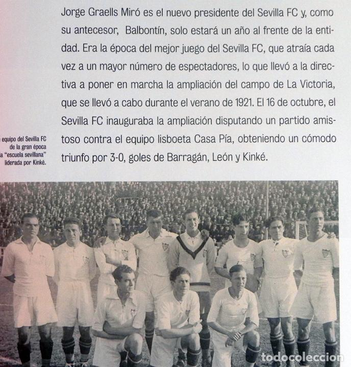 Coleccionismo deportivo: SEVILLA FC CIEN AÑOS DE HISTORIA TOMO 1 2 LIBROS ORO FÚTBOL CLUB - DEPORTE FOTOS LIBRO TOMOS SFC 100 - Foto 3 - 97797483