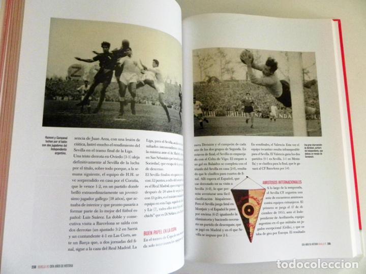 Coleccionismo deportivo: SEVILLA FC CIEN AÑOS DE HISTORIA TOMO 1 2 LIBROS ORO FÚTBOL CLUB - DEPORTE FOTOS LIBRO TOMOS SFC 100 - Foto 8 - 97797483
