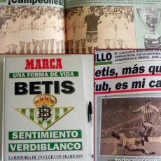 Coleccionismo deportivo: BETIS UNA FORMA DE VIVIR LIBRO HISTORIA DEL REAL B SENTIMIENTO VERDIBLANCO FÚTBOL DEPORTE MARCA FOTO. Lote 98001171