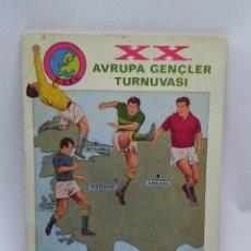 Coleccionismo deportivo: LIBRO DE FUTBOL TURCO, TURQUIA, TURKIYE 1967, XX AVRUPA GENCLER TURNUVASI, 60 PAG. CON MUCHISIMAS FO. Lote 101866883