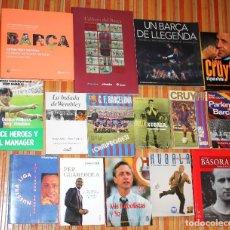 Coleccionismo deportivo: LOTE BARÇA 15 LIBROS. MUY INTERESANTE. VER TÍTULOS EN DESCRIPCIÓN. F.C. BARCELONA. Lote 103195423