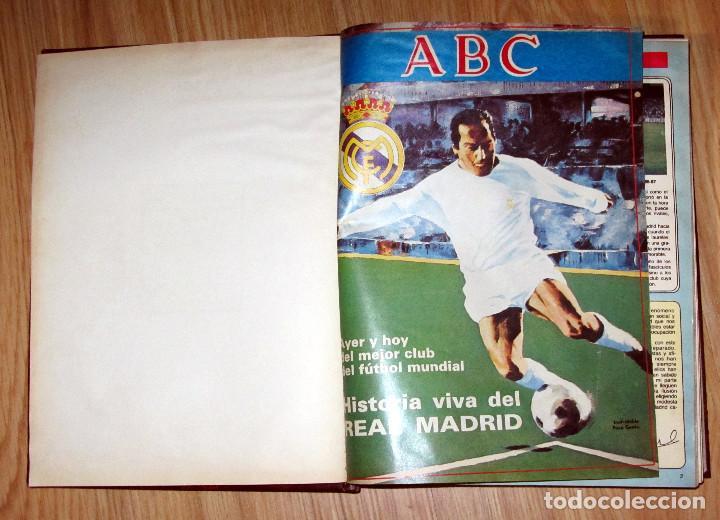 Coleccionismo deportivo: ABC HISTORIA VIVA DEL REAL MADRID TOMO FASCICULOS ENCUADERNADOS ABC 520 PÁGINAS - Foto 2 - 104235699